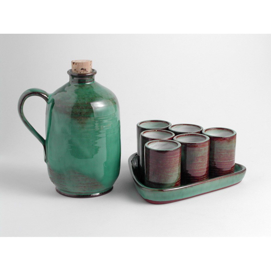 Likérová souprava s lahví