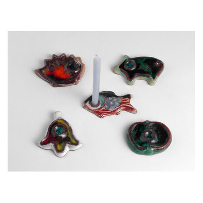 Svícínek vánoční jablíčko, ježeček, prasátko, zvoneček, rybyčka
